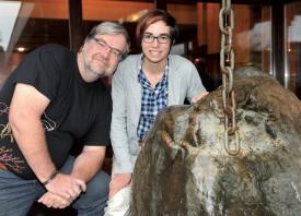 Le Dr Jean-François Rubin et sa fille Aurélie. ©Michel Duperrex