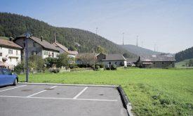 Le projet de parc éolien de Sur Grati, vu depuis Vaulion. Photomontage VO Energies Eole / DR