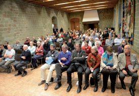 Une centaine de nouveaux retraités ont répondu présent à la cérémonie, suite à la convocation de la Ville d'Yverdon-les-Bains. ©Michel Duperrex