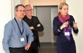 André Allmendinger, directeur de la Fondation Saphir, Yvon Jeanbourquin, directeur des CMS, et Klara Fantys, responsable du Pôle personne âgée à Saphir. ©Michel Duperrex