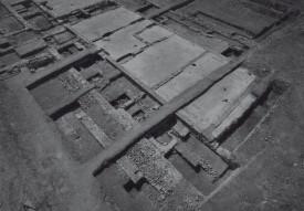 Vue aérienne des fouilles archéologiques, en 1993. ©DR