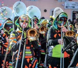 Les Guggenmusik ont offert durant toute la durée de la manifestation, des rythmes envoûtants aux fêtards. ©Carole Alkabes