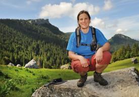 La guide Thaïs Cornaz est mandatée par l'Office du tourisme sainte-crix. ©Michel Duperrex