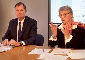 La conseillère d'Etat Verte Béatrice Métraux et le chancelier Vincent Grandjean ont présenté le résultat d'une enquête sur les établissements pénitentiaires du canton. ©Christelle Maillard
