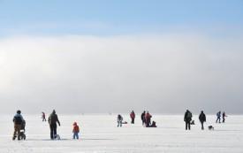 Un ultime banc de brume donnait au site une majesté digne du Grand Nord. ©Michel Duperrex