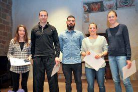 Badminton Club: Cloé Brand, Oliver Colin, Christophe Debétaz, Sarah Golay et Corinne Métille. ©Carole Alkabes