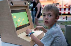 Avec Fancy Candy, Arthur Comte a pu tester son tout premier jeu vidéo. ©Gabriel Lado