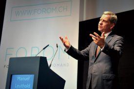 Le président du conseil d'administration de Compensuisse, Manuel Leuthold, s'est montré particulièrement convaincant. ©Carole Alkabes