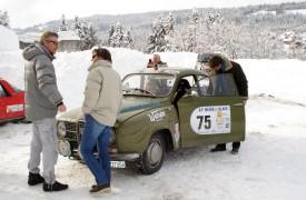 Denis Borgniart est grand! Nathalie Golaz a pu s'en rendre compte dans la neige de la région de Pontarlier. DR