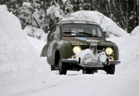 C'est le Sainte-Crix Michel Ferrandi qui a prêté la Saab à Nathalie Golaz pour le Neige et Glace. DR