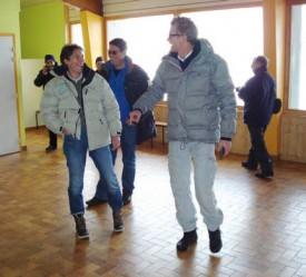 Le courant est passé entre Nathalie Golaz et Denis Brogniart. DR