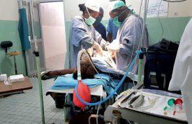 Une anesthésie opérée avec succès grâce au nouveau matériel médical. ©DR