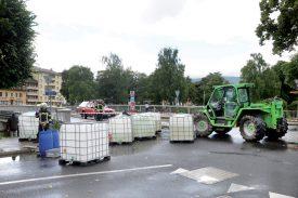 Plus de 2000 litres d'engrais se sont retrouvés dans la Thièle le 6 juin. ©Duperrex-a
