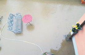 Cette terrasse de Fiez a disparu sous l'eau. ©Christine Muri