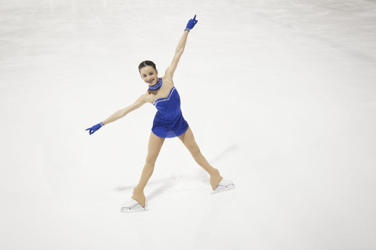 Anaïs Coraducci au pied du podium