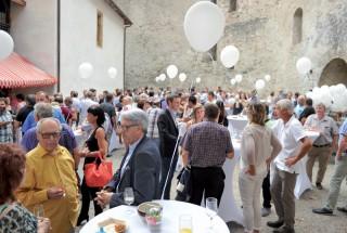 Plus de 200 invités, représentants des autorités, actionnaires, et partenaires ont participé, dans une ambiance festive, à la soirée du 10e anniversaire, heureusement épargnée par les orages. ©Carole Alkabes
