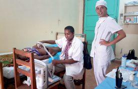 Le médecin Michel Ndianony peut désormais pratiquer des échographies. ©DR