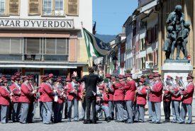 La fanfare L'Avenir était l'un des sept orchestres invités à défiler durant le cortège. ©Michel Duperrex