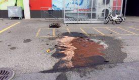 Un agent absorbant a été utilisé pour éliminer les traces de benzine. ©DR