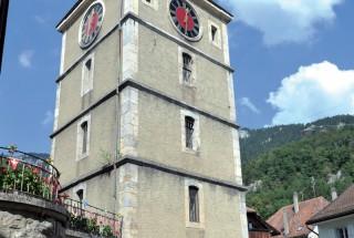 Une fois n'est pas coutume, le public a pu visiter la tour de Baulmes. ©Carole Alkabes