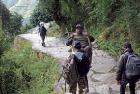 Gajendra, le journaliste népalais paraplégique aussi de la partie. ©Patrick Genaine