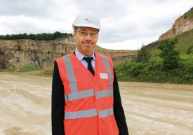 François Girod, directeur de la cimenterie d'Eclépens. © Muriel Aubert