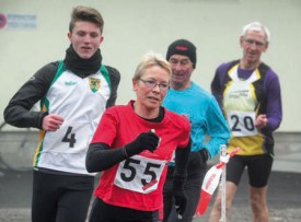 Dora Brière, l'ancienne du CM Yverdon, a participé à l'épreuve en catégorie walking. © Champi