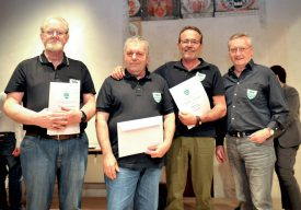 Club de billard: Albert Rolf, Victor Cardoso, François Henny et Freddy Meyer (président). ©Carole Alkabes