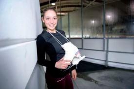 Laure Nicodet s'entraîne encore régulièrement à Yverdon, même si elle étudie, patine et dort souvent à Neuchâtel, où elle a un studio depuis qu'elle a commencé le lycée. © Nadine Jacquet
