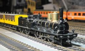 l est désormais possible de mettre en mouvement, sur la maquette, La Bourbonnaise, premier train à avoir circulé à Vallorbe, en 1870. © Michel Duperrex