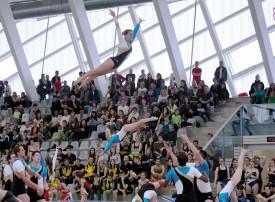 Pomy s'est qualifié pour deux finales, samedi, devant le public de la salle des Isles. La société a obtenu deux podiums. © Champi