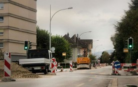 Le chantier de la rue de Chamblon a suscité de vives réactions sur les réseaux sociaux. © Camille Bardet