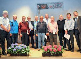 Amicale des sapeurs-pompiers: onze membres ont été récompensés. ©Carole Alkabes