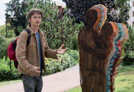 Fabian Sbarro a présenté son oeuvre «Eclipse» au public venu au Jardin Japonais. ©Gabriel Lado