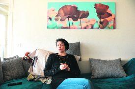 Antonella Caruso nous a accueilli à son domicile, à Yverdon-les-Bains. Preuve de sa détermination et de sa volonté de garder les idées claires pour parler de sa soirée, le regard tourné vers l'avenir, elle a attendu la fin de l'interview pour prendre une dose de morphine, soulageant sa douleur. ©Michel Duperrex