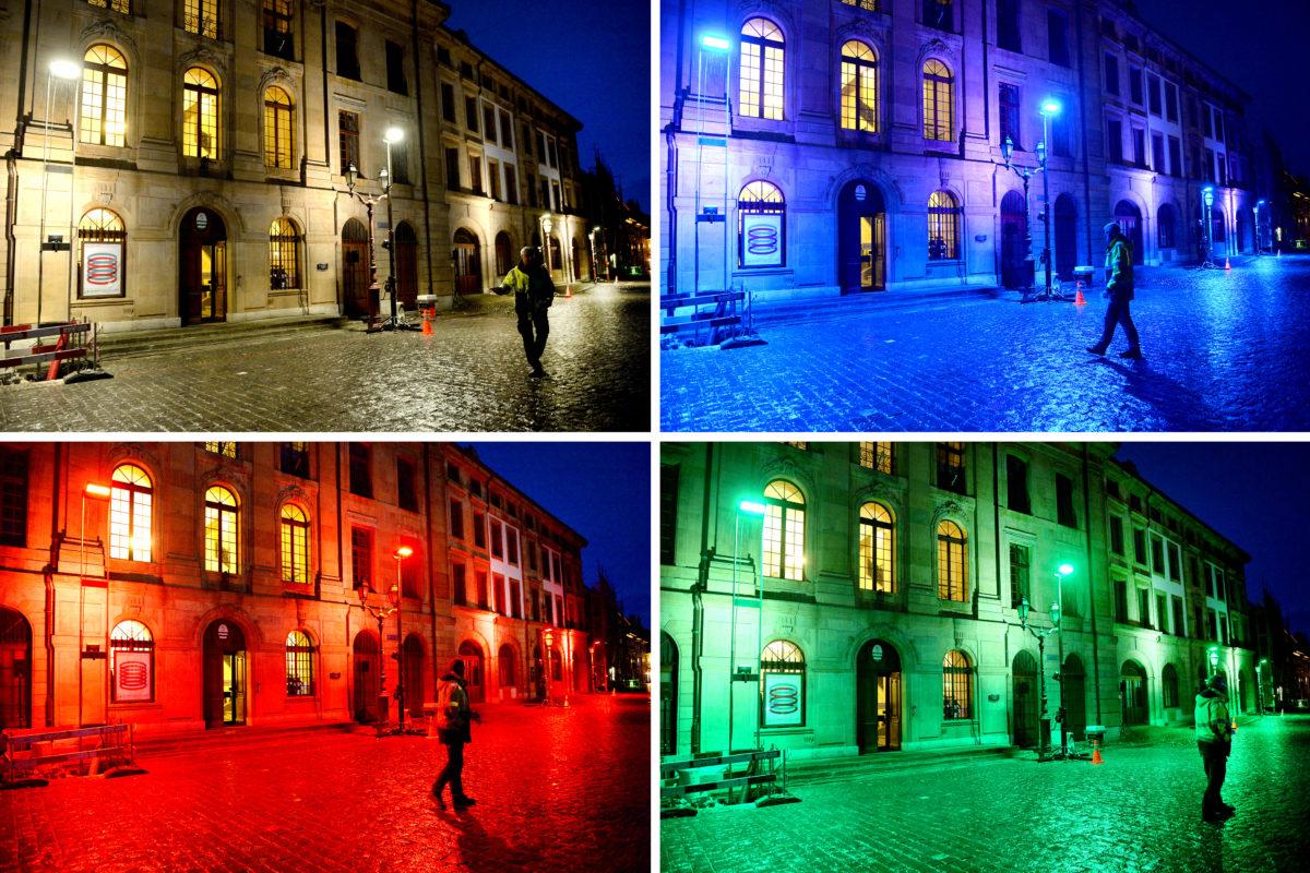 Jeux de lumière sur le centre historique