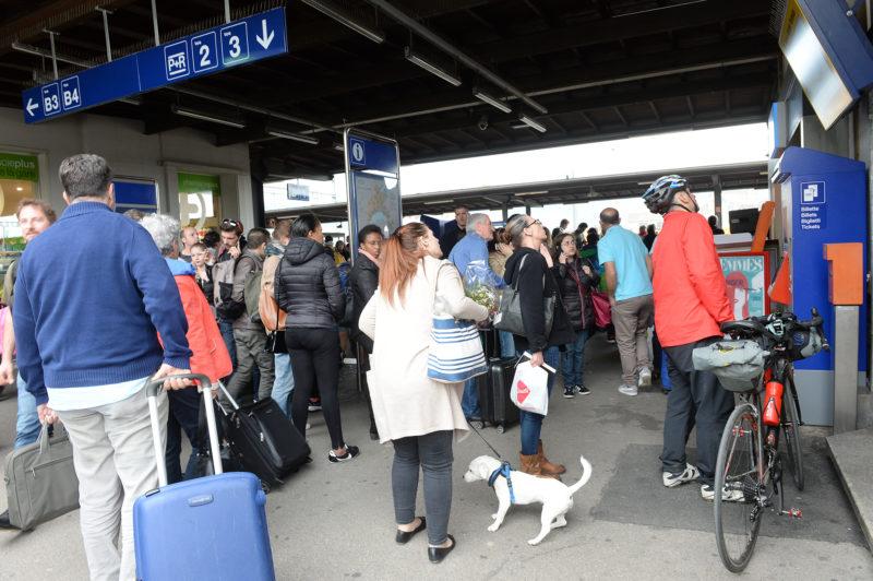 Tous les trains ont été impactés par cet accident de personne. © Michel Duperrex