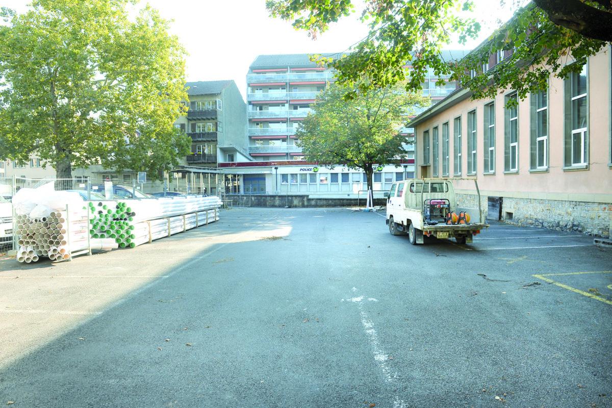 Un parking sucré pour un chantier