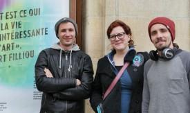 Dimitri Petrouski, Karine Tissot et Sergei Keller: les trois protagonistes. ©Simon Gabioud