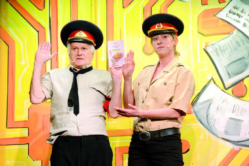 Pierre Miserez, comédien professionnel, et Ingrid Crisinel, en leaders du parti antispéciste.