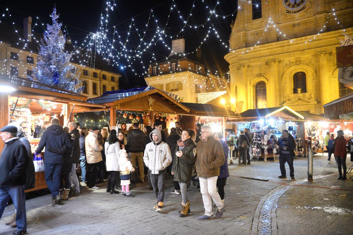Yverdon-les-Bains a ouvert son marché de Noël