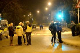 Une cinquantaine de policiers, dont des inspecteurs de la brigade de police scientifique et de la brigade criminelle de la Police cantonale vaudoise, ont été mobilisés. © Michel Duperrex