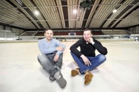 Le Tchèque Jiri Rambousek (à g.) et le Slovaque Matus Luciak. La glace est à eux. © Michel Duperrex