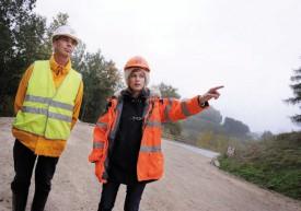 Les ingénieurs civils Henri Bovay et Pascale Wolff se sont succédé sur le chantier. © Nadine Jacquet