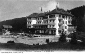 Avant son agrandissement, le Grand Hôtel des Rasses était déjà connu bien au-delà de la Suisse.