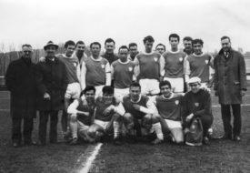 L'équipe de 1969, avec Bouillon (accroupi, au centre).