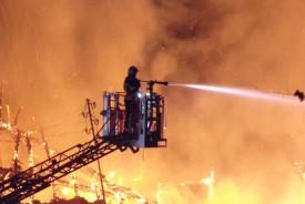 Une cinquantaine de sapeurs-pompiers ont été mobilisés.