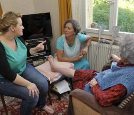 Le courant est bien passé entre l'infirmière Marie Girard, la municipale Pascale Fischer et Henriette Zimmerli (de g. À dr.).
