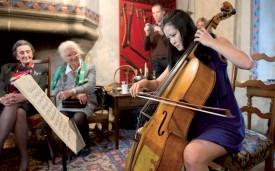 Le château de Giez organise des rencontres musicales privées. ©Duperrex-a