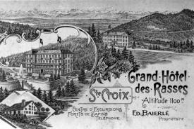 Sur cette carte postale d'époque, Sainte-Croix à l'heure de la «modernité».